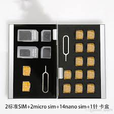 wholesale aluminum memory card storage box holders sliver for