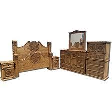 rustic bedroom sets amazon com rustic western king size lone star bedroom set