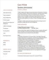it systems administrator resume senior systems administrator
