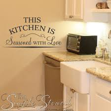 kitchen stencil ideas this kitchen is seasoned with vinyl wall lettering decor