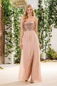 jasmine bridal bridesmaid dress b2 style b183064 in rose gold