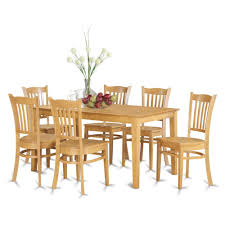 east west furniture 7 piece dining room set dinette table and 6