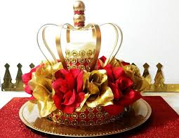 a new prince baby shower new and gold baby shower crown centerpiece boys and