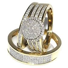 his and wedding rings wedding advisory his and bridal rings set trio 0 73ct 10k