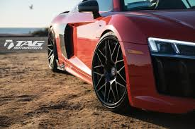 audi r8 blacked out lady in red 2017 audi r8 v10 plus on hre rs100 tag motorsports