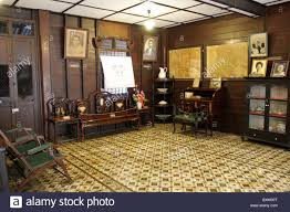 interior in the old chinese style house thailand stock photo
