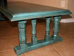 turquoise u0026 black chunky coffee table facelift furniture