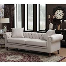 tufted living room furniture amazon com ac pacific juliet collection contemporary fabric