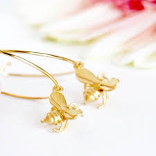 hypoallergenic earrings gold hoop bee earrings jacaranda