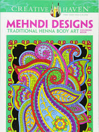 dover creative haven mehndi designs coloring book coloring