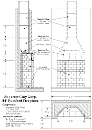 Standard Fireplace Dimensions by Rumford Fireplace Plans U0026 Instructions