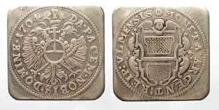 siege ulm 1704 ulm germany ulm gulden 1704 siege coinage klippe silver vf