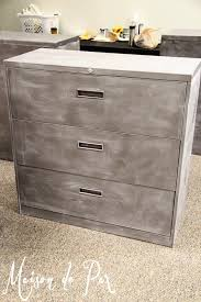 How To Paint A Metal File Cabinet How To Give Metal A Brushed Steel Look Maison De Pax