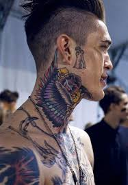 31 cool neck tattoos design for guys hit ideas