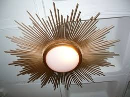 gold ceiling light fixtures eye catching sunburst gold ceiling light the designer insider