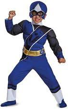 childs boys power rangers ninja steel blue ranger muscle costume