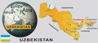 uzbekistan map in world discovery uzbekistan