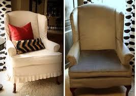 Wing Chair Slipcovers Wing Chair Slipcovers White