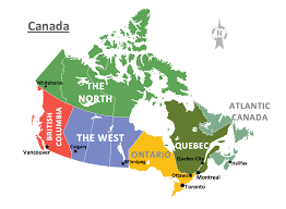 Canada Population Map by Geo Map Europe