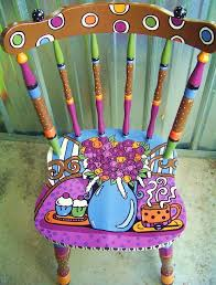 Painted Chairs Images 311 Best Art Painted Chairs Etc Images On Pinterest Furniture