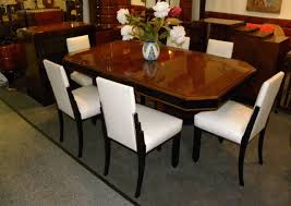 french art deco dining suite exotic wood at 1stdibs