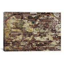 secret map secret map 18 w x 12 h x 0 75 d leather maps of the