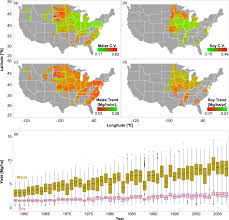 Midwest States And Capitals Map by Drought Effects On Us Maize And Soybean Production Spatiotemporal