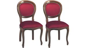 chaises medaillon chaises médaillon velours bordeaux chaise médaillon pas cher