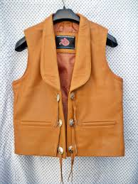 mens leather motorcycle vest leather vest western style mlv75 for sale