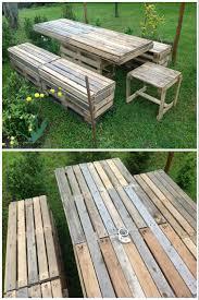 pallet garden table u0026 bench u2022 1001 pallets
