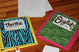 Decorated binders