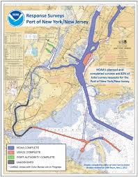 New Jersey New York Map by Noaa Surveys Continue In Port Of New York New Jersey Completed