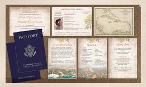 wedding invitations jamaica passport wedding invitation booklets real passport style