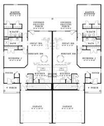 duplex plans with garage in middle duplex j2030d floor plan investment pinterest duplex plans