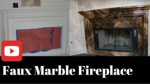faux marble firplace artist lisa bryant youtube