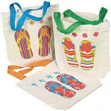 canvas flip flop tote bags multicolor 12 pack 8 x