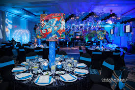 Led Lights In Vases Aqua Gems Centerpieces Balloon Artistry