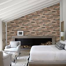 rustic dusty red reclaimed bricks wallpaper by a streets prints