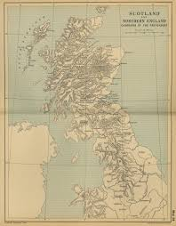 Road Map Of Scotland United Kingdom Maps Perry Castañeda Map Collection Ut Library