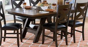 two tone dining room sets homelegance rockville dining table two tone dark light brown