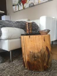 Log Side Table Jabin Tree Trunk Table Log Wood Mayan Click Image To View