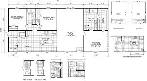 Floor Plans For Mobile Homes Double Wide Westfield 28 X 60 1600 Sqft Mobile Home Factory Expo Home Centers