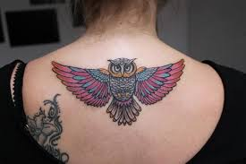 tattoo girl owl girl show simple big wings owl tattoo golfian com