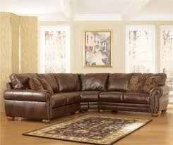 ashley furniture home theater seating durablend antique stationary sofa sectional by signature design