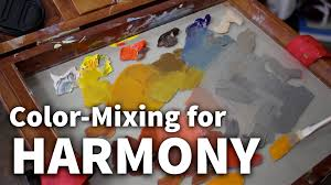 color mixing for harmony acrylic u0026 oil painting lesson youtube