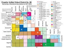 map of chandler az chandler az unified district elementary junior high and