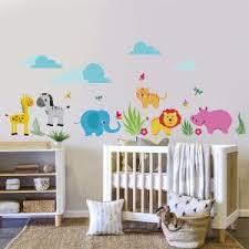 stickers jungle chambre bébé stickers muraux chambre bébé jungle chambre idées de