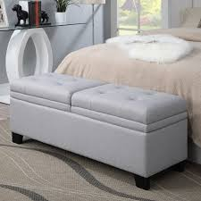 Bench In Bedroom Pri Upholstered Storage Bedroom Bench In Trespass Marmor Walmart Com