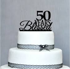 50th cake topper 2018 happy 50th birthday cake topper 50th anniversary cake topper