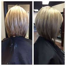 hairstyles with layered in back and longer on sides long angled bob front and back view glamor haircuts long bob